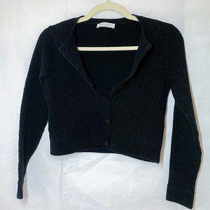 new Sandro Paris knit nylon / cotton cardigan